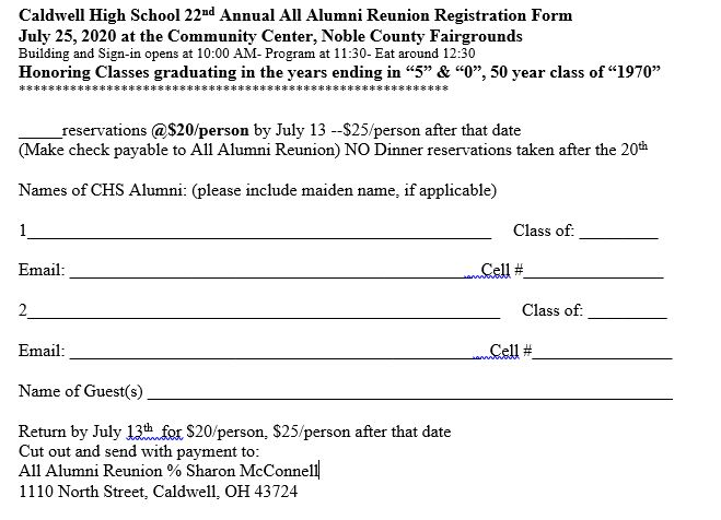 2020 Registration Form
