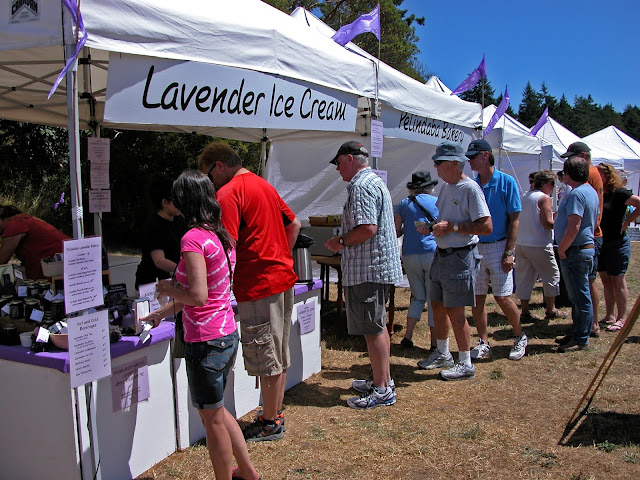 Lavender Ice Cream at the lavender festival