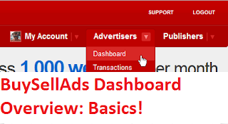 BuySellAds Dashboard Overview: Getting To Know Basics