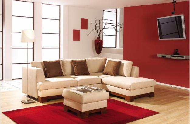 Decor arq tendencia pasion decorando en rojo y blanco perla for Como amueblar una sala