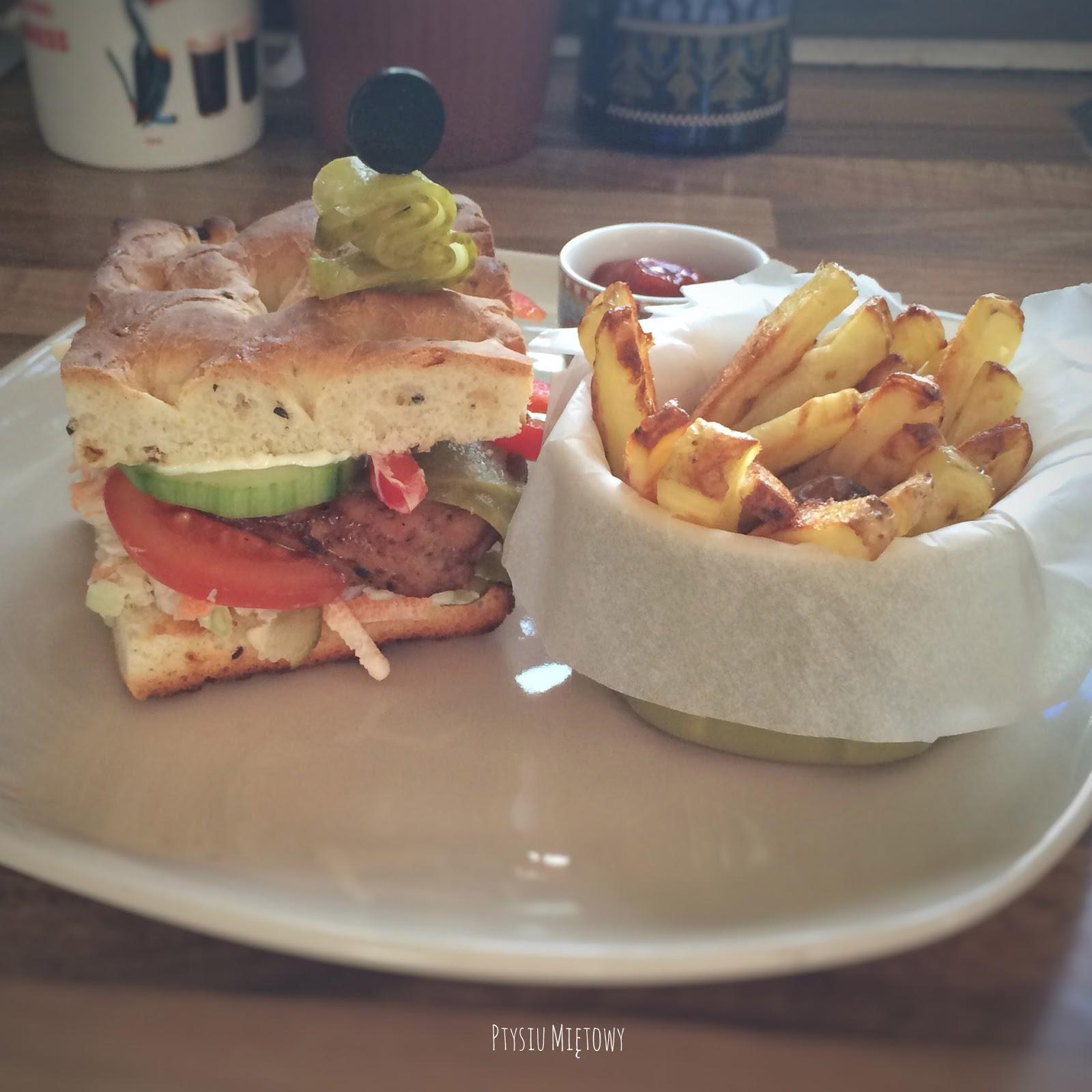 burgery, ptysiu mietowy