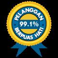 99.1% KEPUASAN PELANGGAN