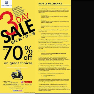 Three Day SM Malls Sale