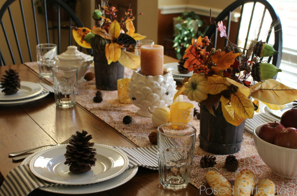 Golden Autumn Tablescape