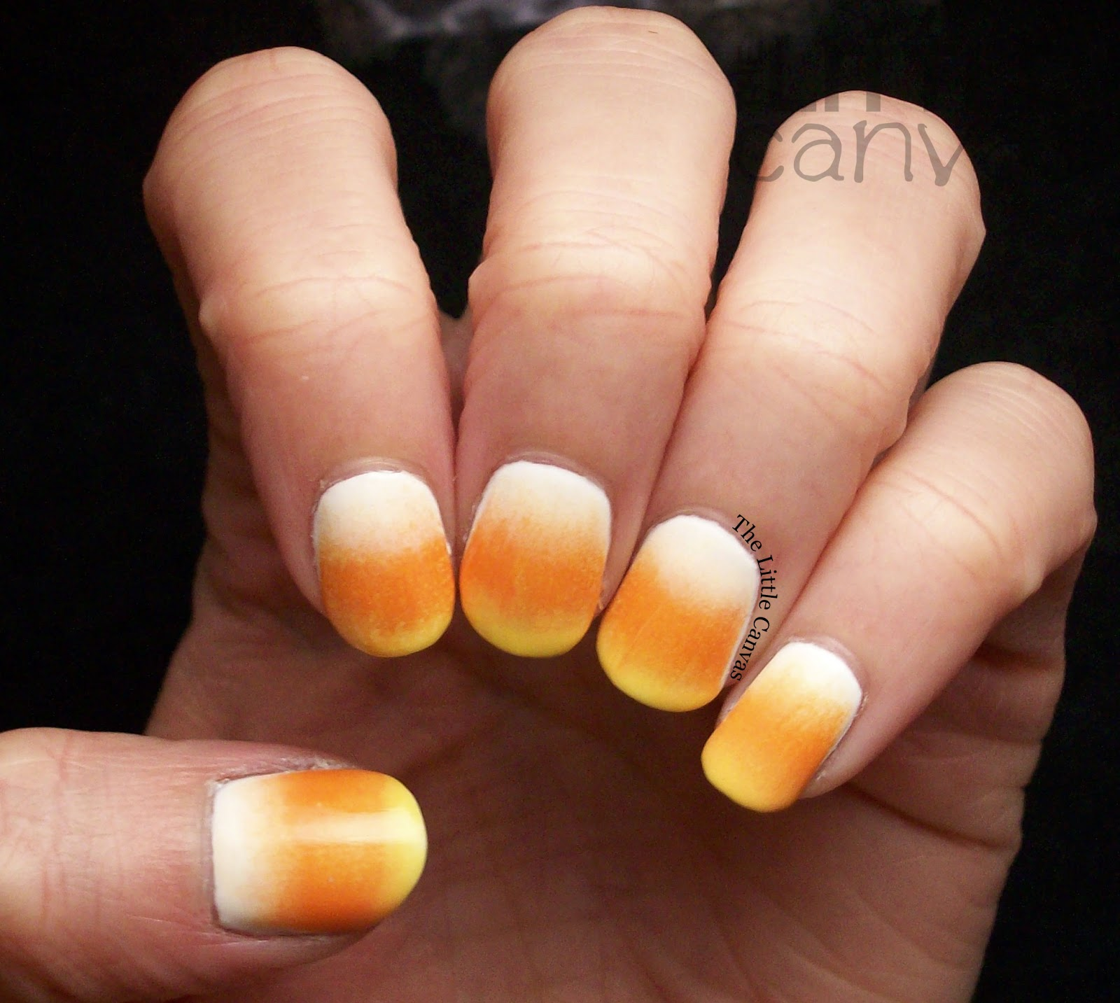 Candy corn nail art the little canvas lets take a look at this years version prinsesfo Image collections
