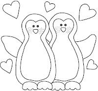 """risco casal de pinguins"""
