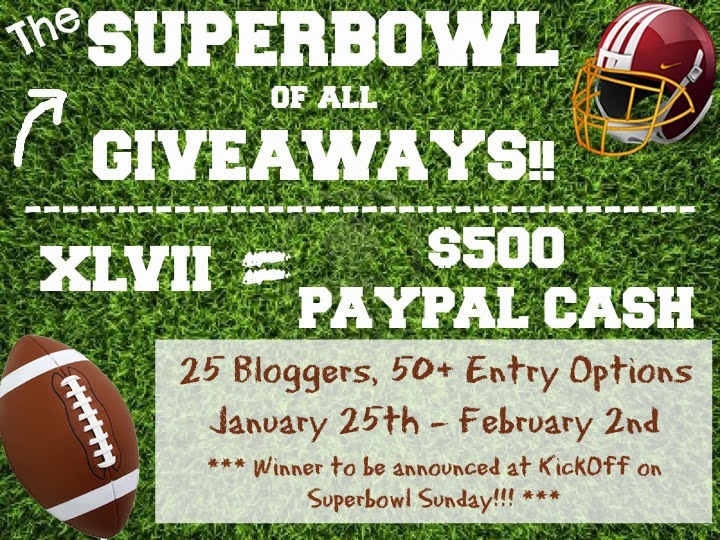 Superbowl Recipes and Kickoff Giveaway – $500 Paypal Cash! Get that menu planned and enter to win!
