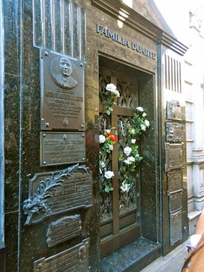 Eva Peron's grave in La Recoleta