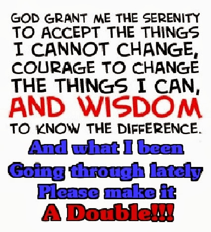 Serenity prayer updated, revised.