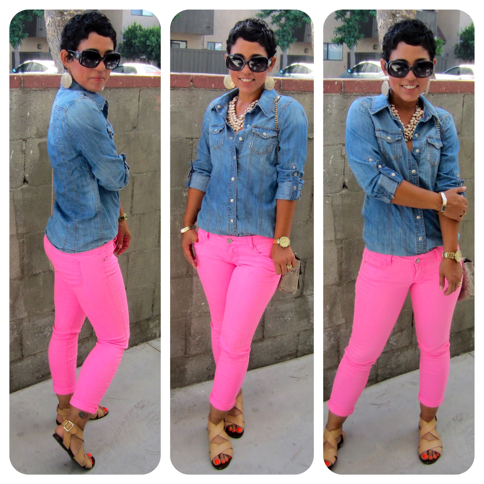 1000+ images about Neon pink short pants on Pinterest