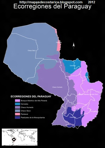 Mapa de Ecorregiones del Paraguay