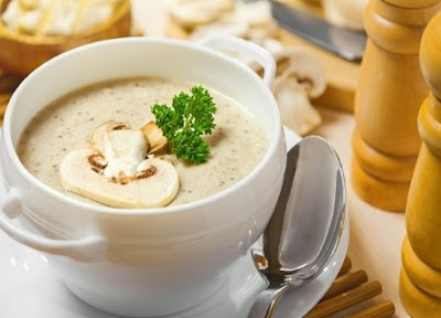 cream mushrooms soup recipe