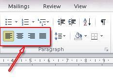 Cara Mengatur Tulisan Rata Kiri, Kanan dan Rata Tengah, Microsoft Word
