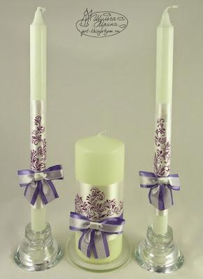 свечи свадебные роспись