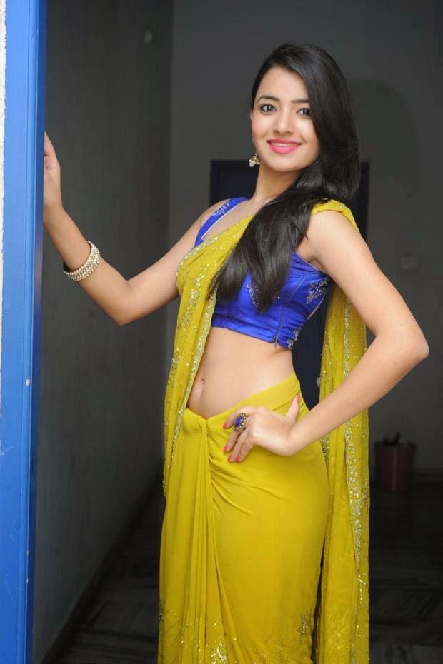Actress Ruksar Meer Latest Cute Hot Green Half Saree Navel Show Spicy Photoshoot Gallery