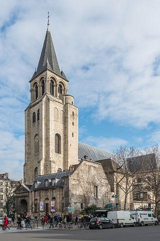 """Abbaye de Saint-Germain-des-Prés 140131 1"" by DXR - Own work. Licensed under CC BY-SA 3.0 via Wikimedia Commons - http://commons.wikimedia.org/wiki/File:Abbaye_de_Saint-Germain-des-Pr%C3%A9s_140131_1.jpg#/media/File:Abbaye_de_Saint-Germain-des-Pr%C3%A9s_140131_1.jpg"