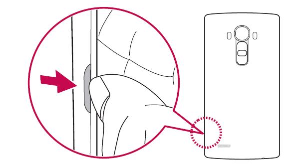 Come inserire SIM Lg G4 passo 1