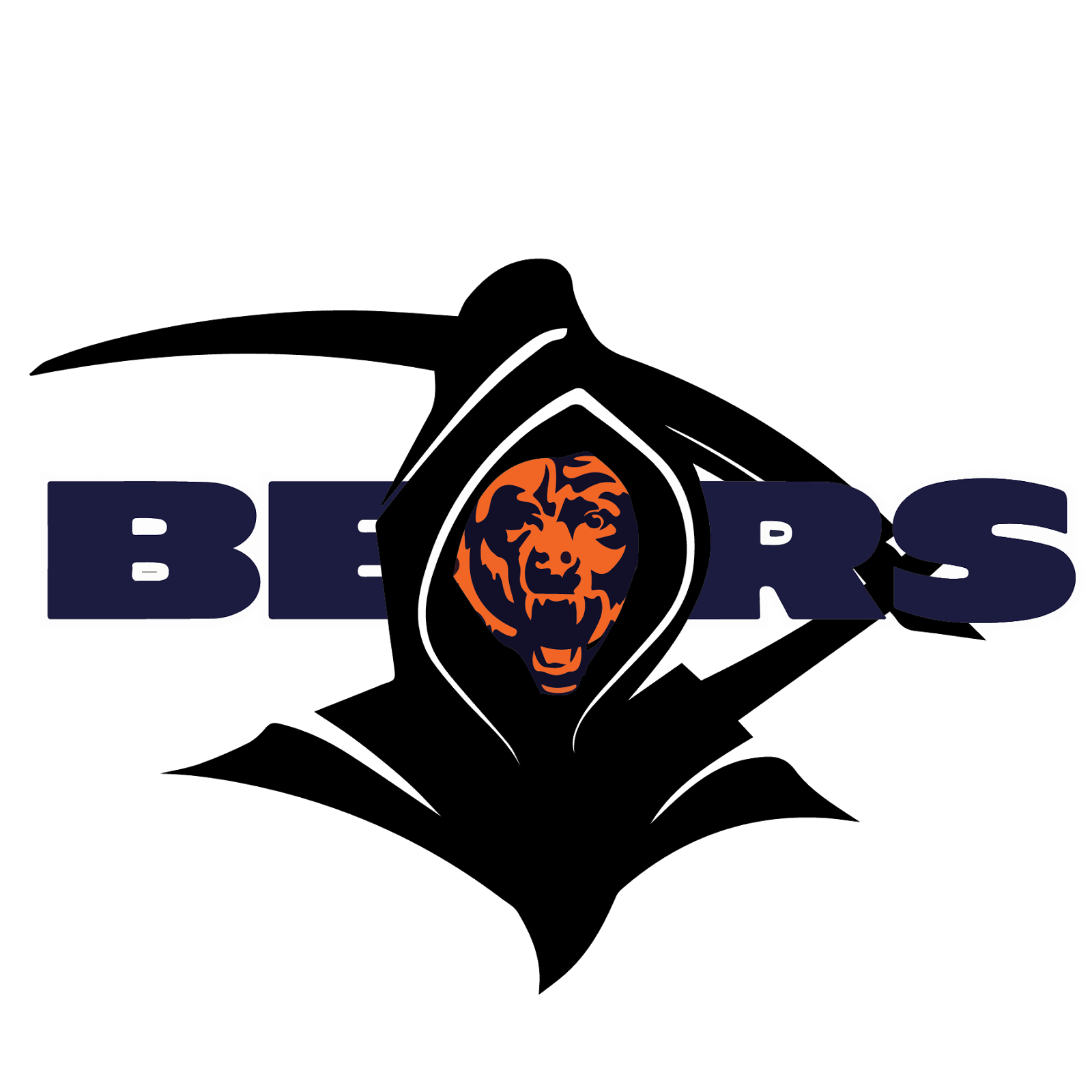 Chicago Bears, metal, logo, re-imagined