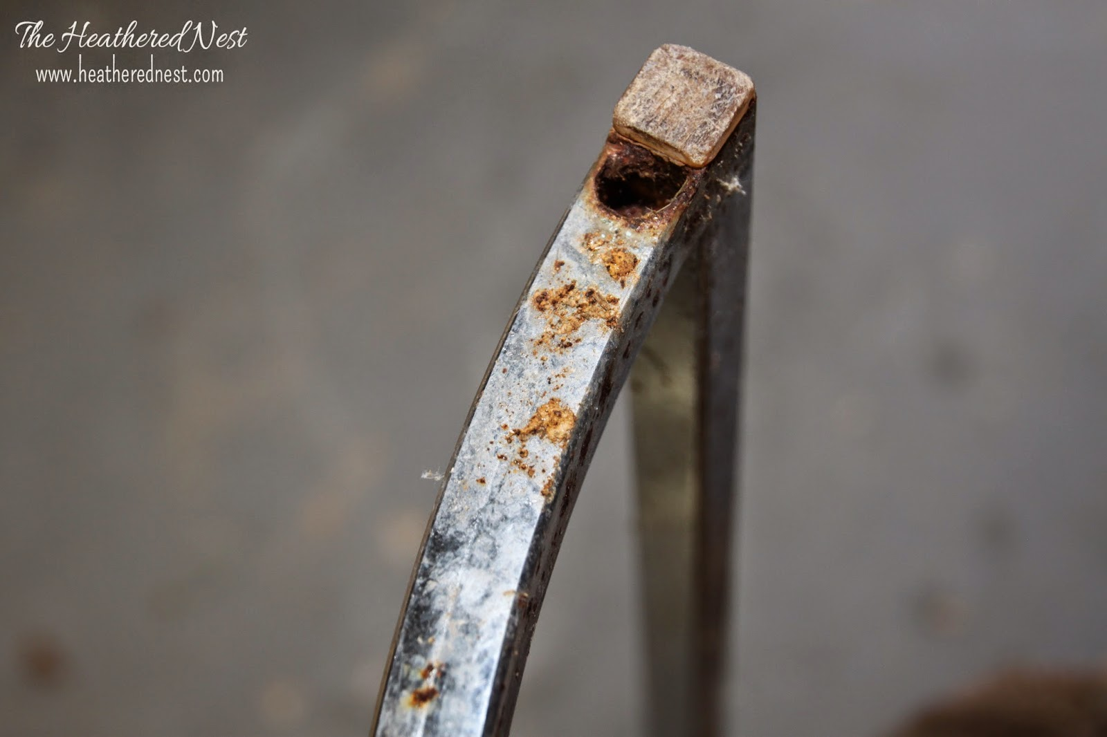 rusty chrome close-up prior to rust removal