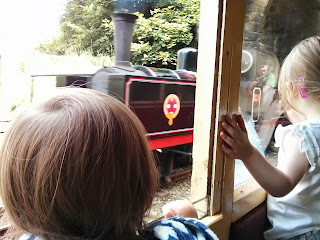 Watching the train go past