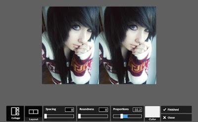 Membuat Efek Foto Mirror Online
