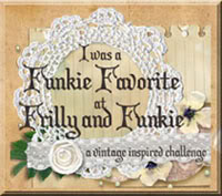WINNER: Guest Designer at the Frilly&Funkie Challenge Blog; JUNE 2018