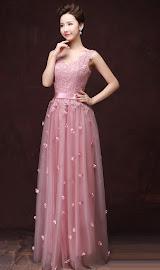 Embroidery Top Full Flower Sprinkle Dress
