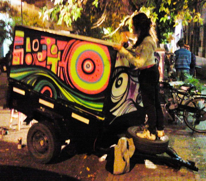 Murales intervenci n de un trailer cuore luxor for El mural trailer