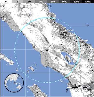 Sismo 5,9 grados en Sumatra de Indonesia 23 de Junio de 2012