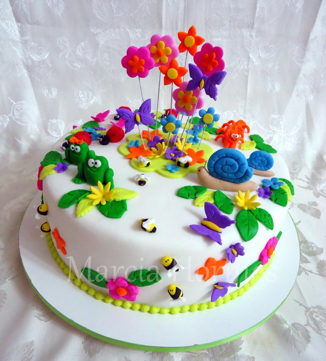 Marcia Hormes  Açúcar com arte Bolo Jardim Encantado