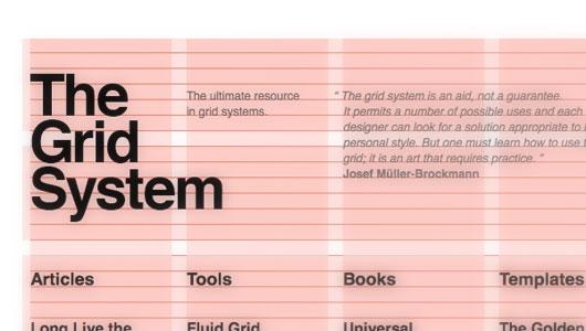 Swiss design grid system