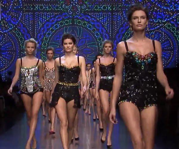 Kristály kompozíciók - Dolce & Gabbana divat álom