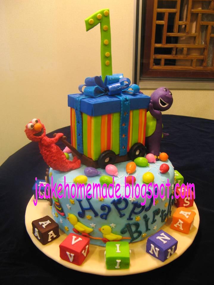 Barney 1st Birthday Cake Barney And Elmo Birthday Cake