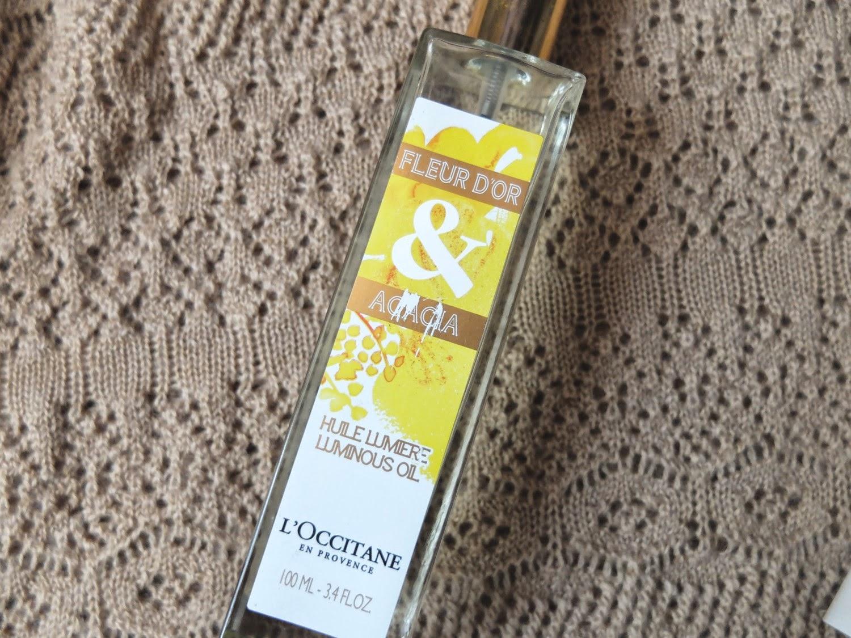 huile sèche fleur d'or L'Occitane soin corps et cheveux