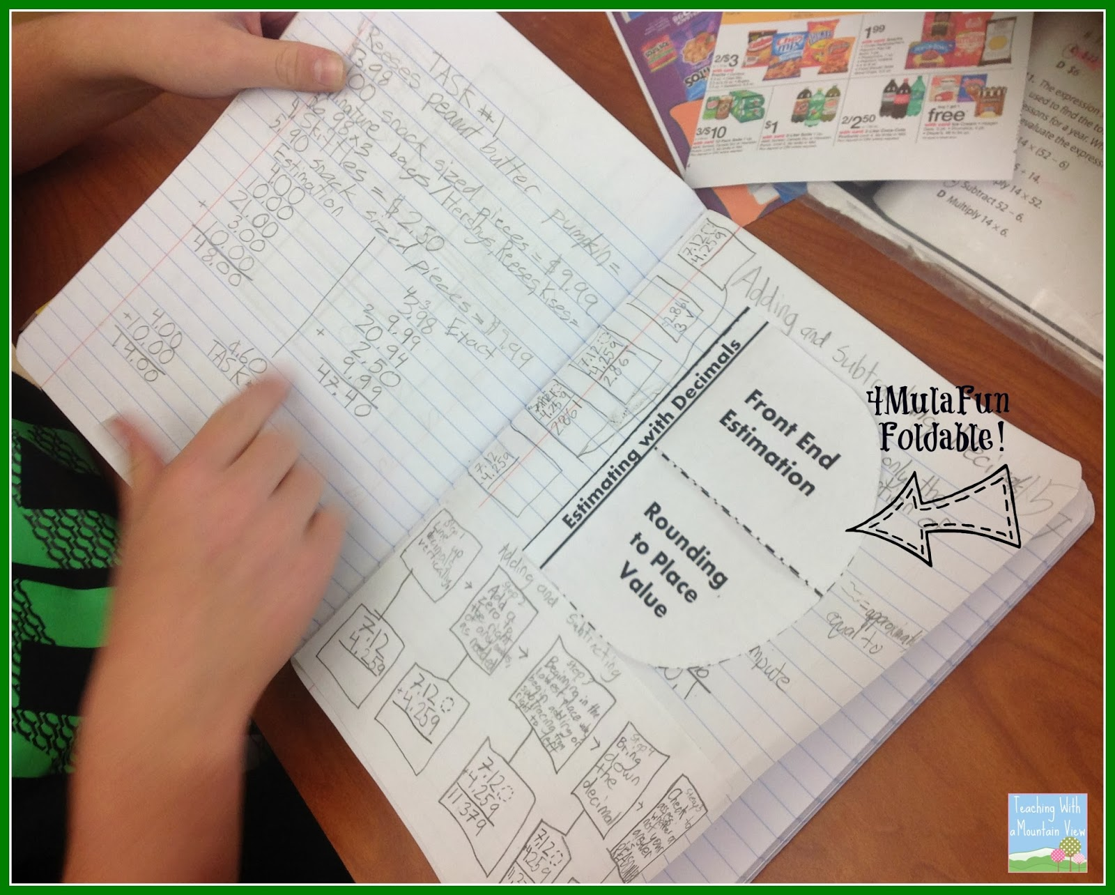 teaching with a mountain view adding and subtracting decimals  sunday october