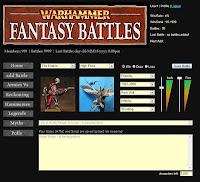Warhammer Battle Recorder website