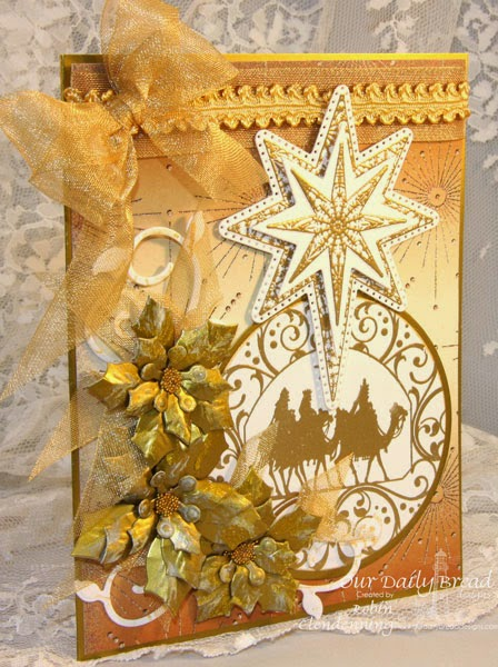 Our Daily Bread Designs, Wisemen Ornament, Snowflake Star, Fancy Foliage, Spendorous Star, Matting Ornaments, Circle Ornaments, Peaceful Poinsettia, Winter Collection 2014, Designed by Robin Clendenning