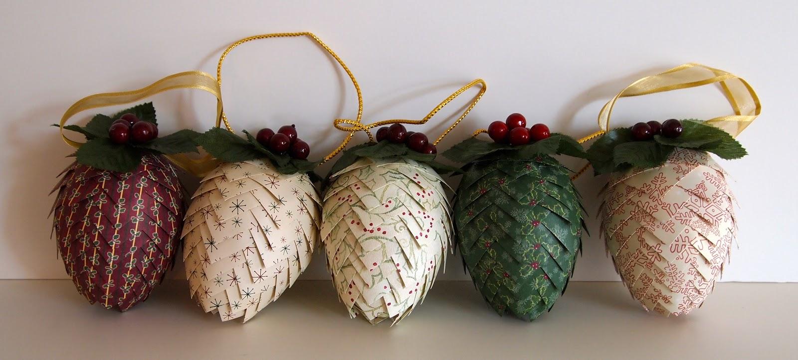 Craft room confidential handmade christmas pinecone for How to make pine cone christmas ornaments