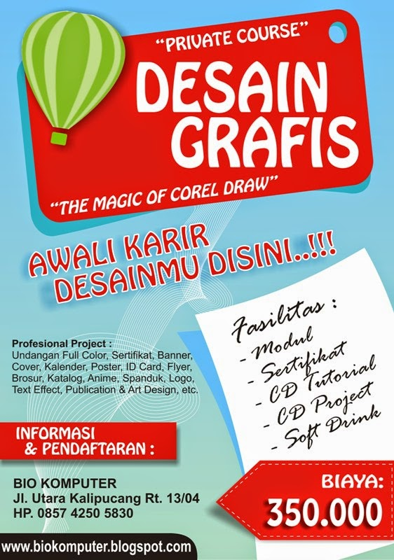 kursus kilat private quotahli desain grafis corel draw