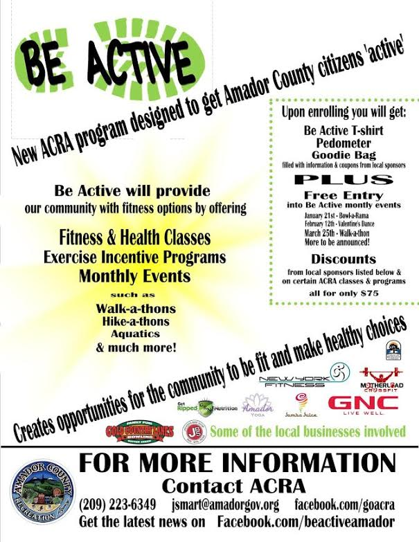 "ACRA's ""Be Active"" Program!"