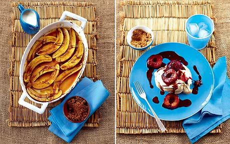 How To Make Fluffy Pancakes With Mix Banana Recipe Baked Bananas With Brown Sugar