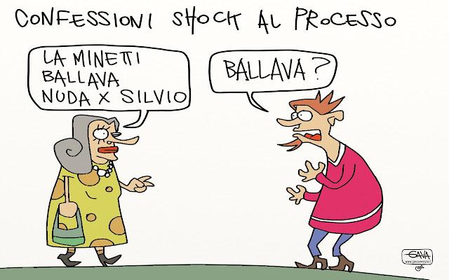 processo shock berlusconi Gava satira vignette