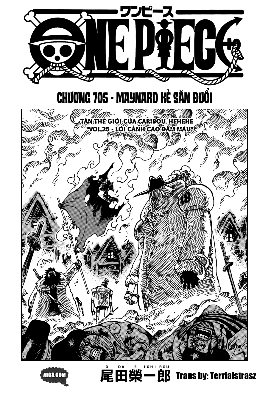 One Piece Chapter 705: Maynard Kẻ săn đuổi 001