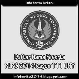 Daftar Nama Peserta PLPG 2014 Rayon 111 UNY