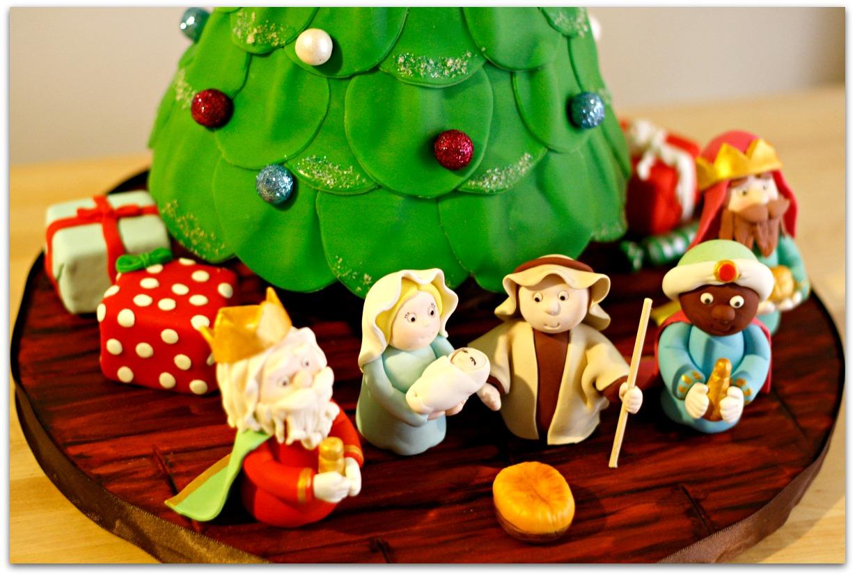 tarta 3D árbol de navidad