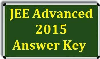 jee answer key 2015