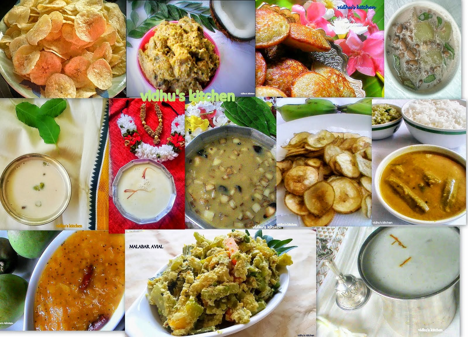 Collection of Onam Recipes