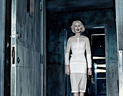 Karolina Kurkova & Crystal Renn in 'Institute White' by Steven Klein for Interview Magazine-4