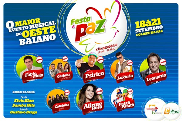 SÃO DESIDÉRIO-FESTA DA PAZ 2014