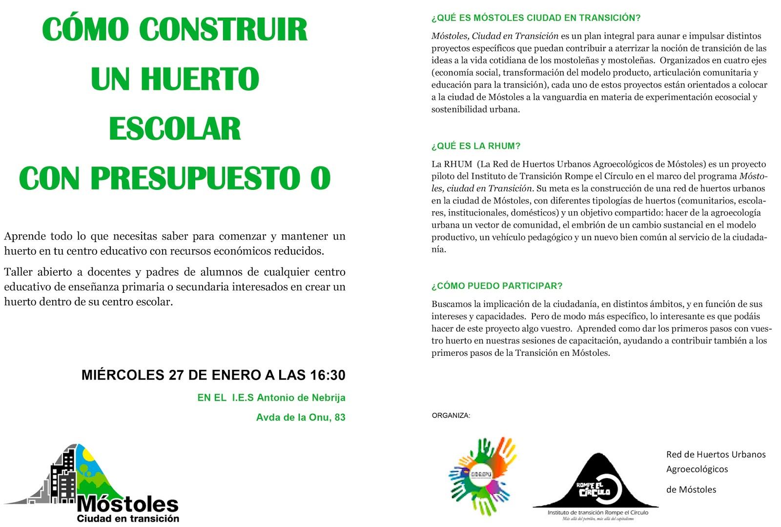 Mareaverde 27 1 2016 c mo construir un huerto escolar for Que es un huerto escolar